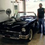 1957 T Bird with Joe and Lou Elliott of Super Cycles